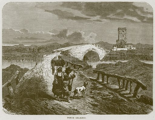 Ponte Salario. Illustration for Rome by Francis Wey (Chapman and Hall, 1875).