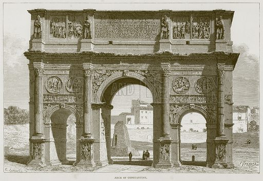 Arch of Constantine. Illustration for Rome by Francis Wey (Chapman and Hall, 1875).