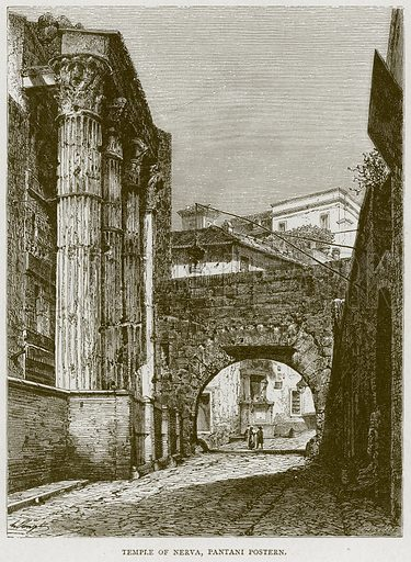 Temple of Nerva, Pantani Postern. Illustration for Rome by Francis Wey (Chapman and Hall, 1875).