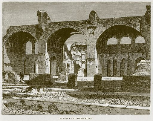 Basilica of Constantine. Illustration for Rome by Francis Wey (Chapman and Hall, 1875).
