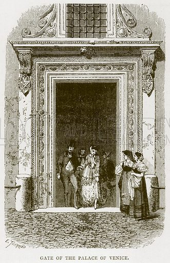 Gate of the Palace of Venice. Illustration for Rome by Francis Wey (Chapman and Hall, 1875).
