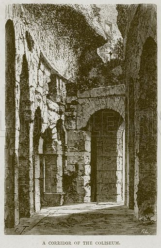 A Corridor of the Coliseum. Illustration for Rome by Francis Wey (Chapman and Hall, 1875).