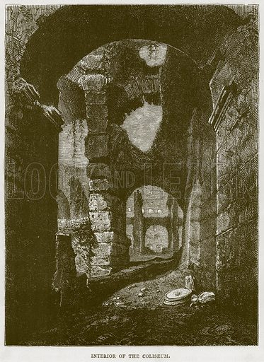 Interior of the Coliseum. Illustration for Rome by Francis Wey (Chapman and Hall, 1875).