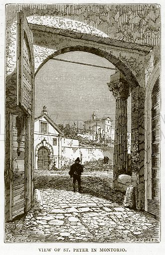 View of St Peter in Montorio. Illustration for Rome by Francis Wey (Chapman and Hall, 1875).