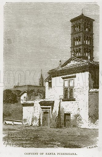 Convent of Santa Pudenziana. Illustration for Rome by Francis Wey (Chapman and Hall, 1875).