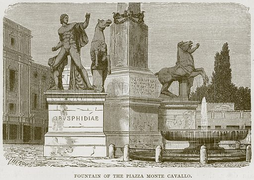 Fountain of the Pizza Monte Cavallo. Illustration for Rome by Francis Wey (Chapman and Hall, 1875).
