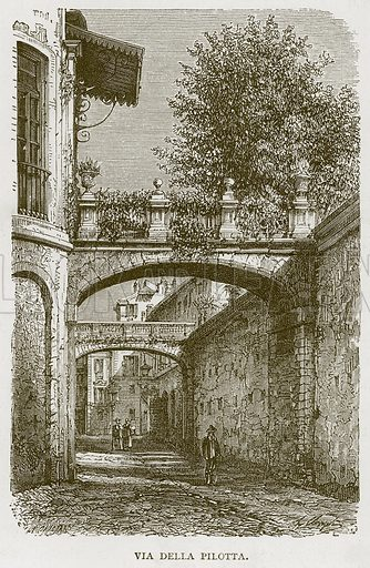 Via Della Pilotta. Illustration for Rome by Francis Wey (Chapman and Hall, 1875).