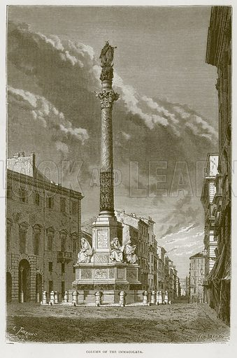 Column of the Immacolata. Illustration for Rome by Francis Wey (Chapman and Hall, 1875).