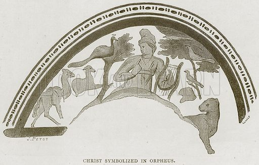 Christ Symbolized in Orpheus. Illustration for Rome by Francis Wey (Chapman and Hall, 1875).