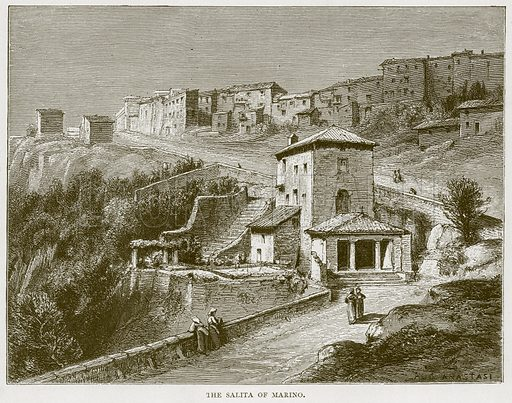 The Salita of Marino. Illustration for Rome by Francis Wey (Chapman and Hall, 1875).