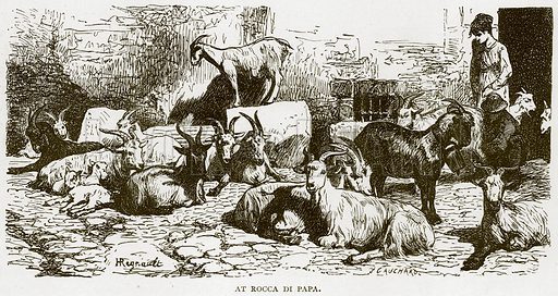 At Rocca di Papa. Illustration for Rome by Francis Wey (Chapman and Hall, 1875).