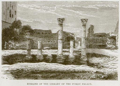 Remains of the Library of the Public Palace. Illustration for Rome by Francis Wey (Chapman and Hall, 1875).