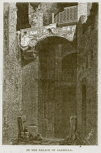 In the Palace of Caligula. Illustration for Rome by Francis Wey (Chapman and Hall, 1875).