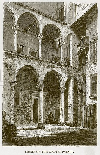 Court of the Mattei Palace. Illustration for Rome by Francis Wey (Chapman and Hall, 1875).