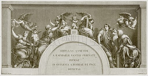 Four sibyls. Illustration for Rome by Francis Wey (Chapman and Hall, 1875).