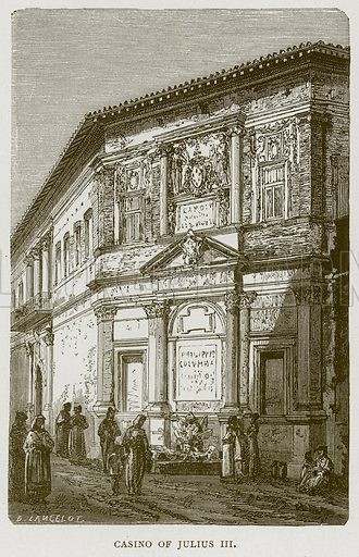 Casino of Julius III. Illustration for Rome by Francis Wey (Chapman and Hall, 1875).