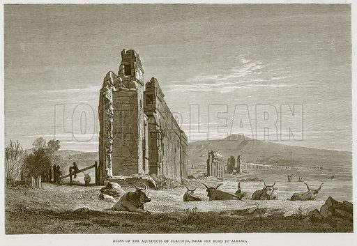 Ruins of the Aqueducts of Claudius, near the Road to Albano. Illustration for Rome by Francis Wey (Chapman and Hall, 1875).