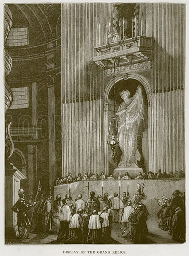 Display of the Grand Relics. Illustration for Rome by Francis Wey (Chapman and Hall, 1875).