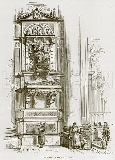Tomb of Innocent VIII. Illustration for Rome by Francis Wey (Chapman and Hall, 1875).