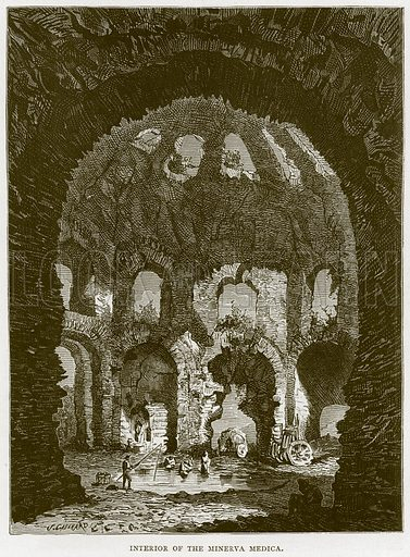 Interior of the Minerva Medica. Illustration for Rome by Francis Wey (Chapman and Hall, 1875).