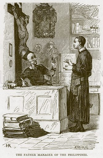 The Father Manager of the Philippines. Illustration for Rome by Francis Wey (Chapman and Hall, 1875).