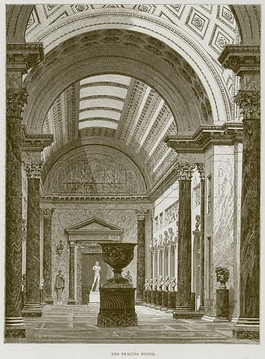 The Braccio Nuovo. Illustration for Rome by Francis Wey (Chapman and Hall, 1875).