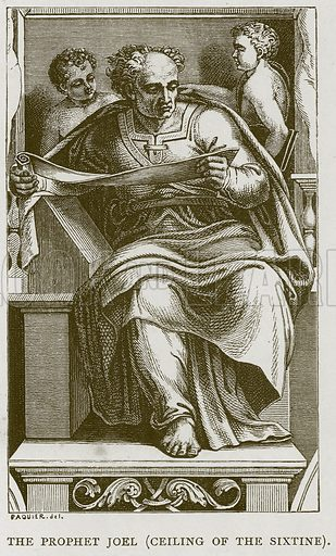 The Prophet Joel (Ceiling of the Sixtine). Illustration for Rome by Francis Wey (Chapman and Hall, 1875).