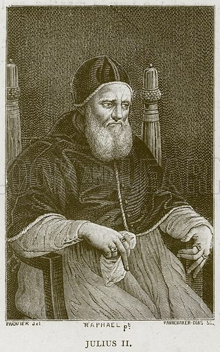 Julius II. Illustration for Rome by Francis Wey (Chapman and Hall, 1875).
