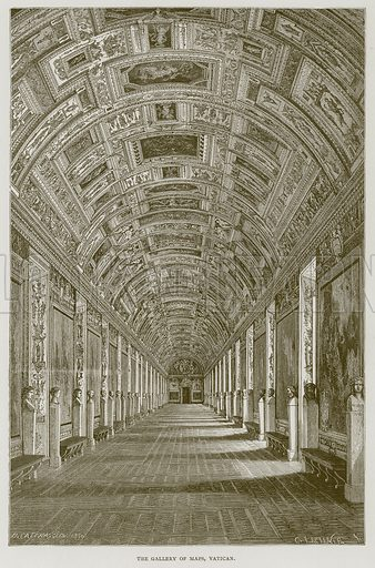 The Gallery of Maps, Vatican. Illustration for Rome by Francis Wey (Chapman and Hall, 1875).