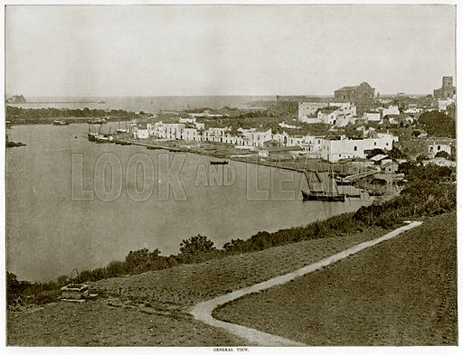 General View. Photograph from Round the World (George Newnes, 1895).