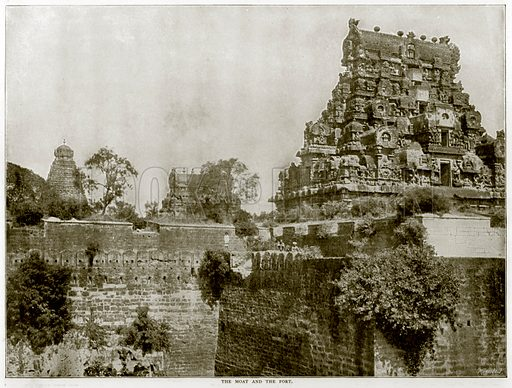 The Moat and the Fort. Photograph from Round the World (George Newnes, 1895).