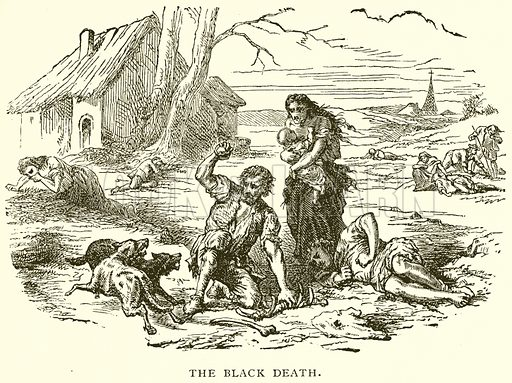 The Black Death. Illustration for Young Folks' History of Russia by Nathan Dole (Werner, 1895).
