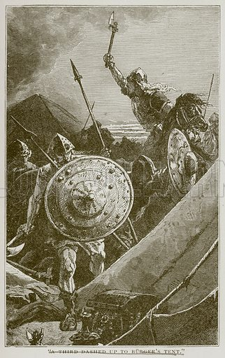 Alexander, the Hero of the Neva. Illustration for Young Folks' History of Russia by Nathan Dole (Werner, 1895).