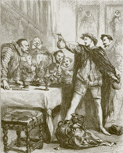 The Heir of Linne. Illustration for Old English Ballads (Ward Lock, 1864).