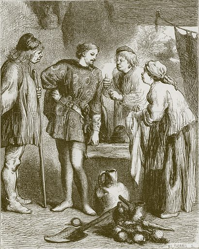 The King and Miller of Mansfield. Illustration for Old English Ballads (Ward Lock, 1864).