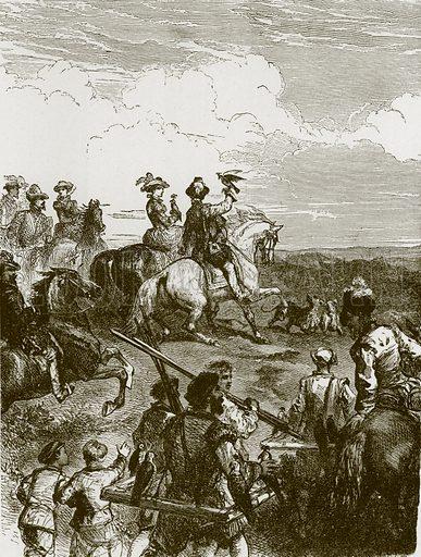 Hunting song. Illustration for Old English Ballads (Ward Lock, 1864).