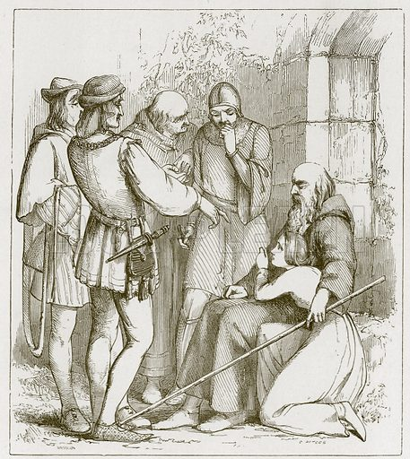 The Blind Beggar's Daughter of Bednall Green. Illustration for Old English Ballads (Ward Lock, 1864).