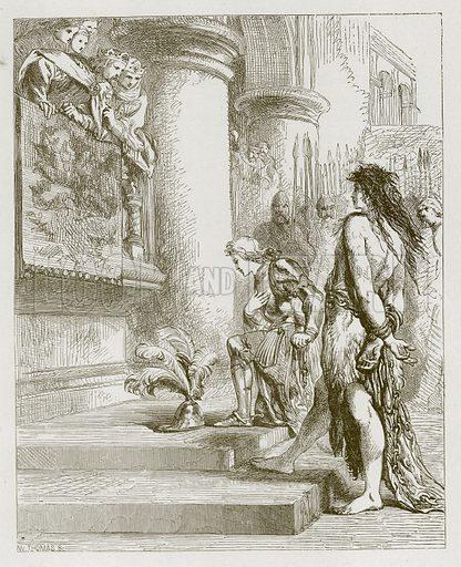 Valentine and Ursine. Illustration for Old English Ballads (Ward Lock, 1864).