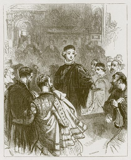 Gernutus the Jew of Venice. Illustration for Old English Ballads (Ward Lock, 1864).