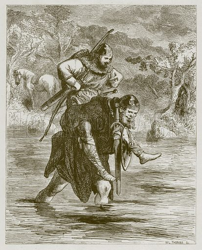 Robin Hood and the Curtall Fryer. Illustration for Old English Ballads (Ward Lock, 1864).