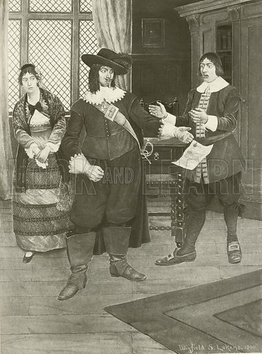 The Barber of Seville, Act I scene xi.  Illustration for The Great Operas edited by James W Buel (Societe Universelle Lyrique, c 1900).  Large photogravure.