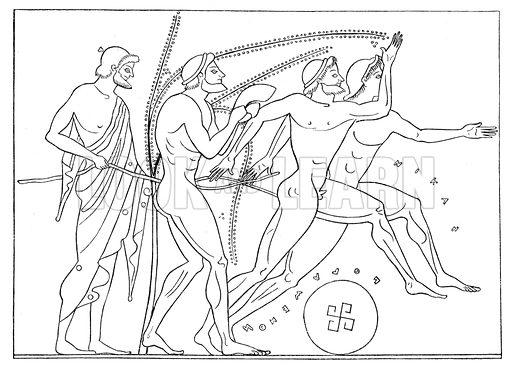 Greek runners. Illustration for Olympia by Adolf Boetticher (Julius Springer, 1886).