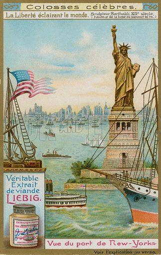 Statue of Liberty, New York.  Liebig card, c 1900.