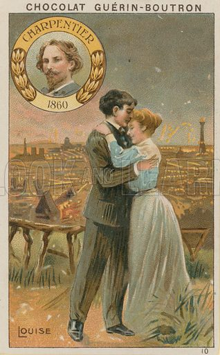 Charpentier, Louise.  Card published by Guerin-Boutron, c 1900.  Chromolithograph.