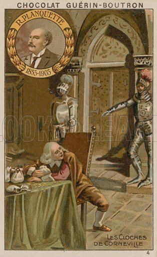 R Planquette, Les Cloches de Corneville.  Card published by Guerin-Boutron, c 1900.  Chromolithograph.
