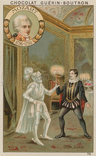Mozart, Don Juan.  Card published by Guerin-Boutron, c 1900.  Chromolithograph.