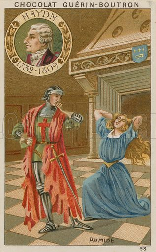 Haydn, Armide.  Card published by Guerin-Boutron, c 1900.  Chromolithograph.