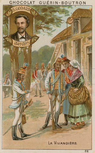 B Godard, La Vivandiere.  Card published by Guerin-Boutron, c 1900.  Chromolithograph.