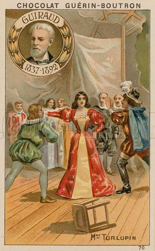 Guiraud, Madame Turlupin.  Card published by Guerin-Boutron, c 1900.  Chromolithograph.