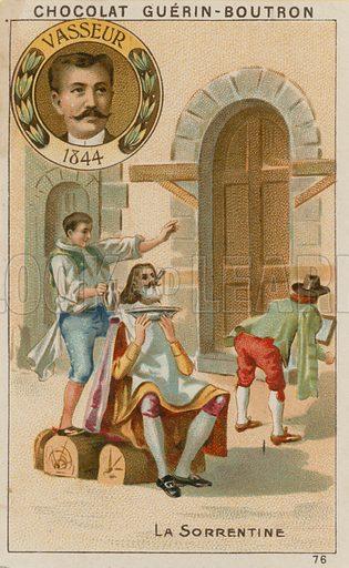 Vasseur, La Sorrentine.  Card published by Guerin-Boutron, c 1900.  Chromolithograph.